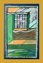 Meine Fenter 3 - Öl&Acryl auf Leinwand - 58x38cm