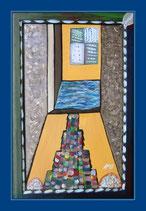 Meine Fenster 1 - Öl&Acryl auf Leinwand - 58x38cm