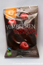 Himbeeren in Zartbitter Schokolade Bio 50g