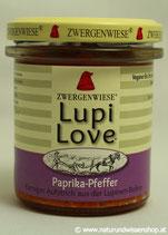 Lupi Love Paprika-Pfeffer BIO, Süßlupinenaufstrich 165g im Glas
