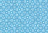 Westfalenstoff Barcelona blau Kreise 0,5 m