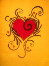 Stickdatei Herz mit Tribal
