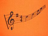 Stickdatei Musiknoten
