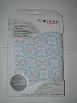 Blumenmuster hellblau Gütermann