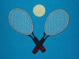 Stickdatei Tennisschläger mit Ball