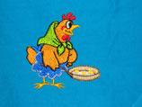 Stickdatei Henne die Eier kocht