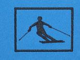 Stickdatei Skifahrer in Fahrt