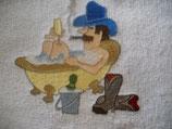 Stickdatei Cowboy in der Badewanne