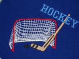 Stickdatei Eishockeytor mit Schläger