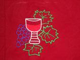 Stickdatei Weintrauben mit Glas 2