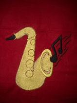 Stickdatei Saxophon mit Note