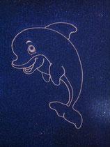 Stickdatei Delfin Konturmotiv