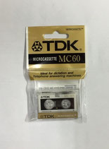 Microcassette TDK para contestador/grabadora 60m
