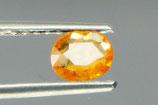 Yellow - orange sapphire