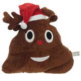 Weihnachten Emojikissen-Rentier Kacke