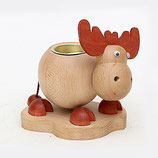Weihnachten Holz-Elch mit Teelichhalter