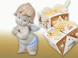 Taufe Geburt Engel Junge in Geschenkbox