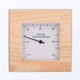 Thermometer Nadelholz (Quadrat)