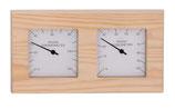 Thermo-Hygrometer Nadelholz (Quadrat)