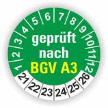 BGV A3 GRÜN Ø 20mm Wartungsetiketten