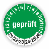 GEPRÜFT GRÜN Ø 40mm
