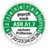 ASR A1.7 GRÜN Ø 30mm Wartungsetiketten