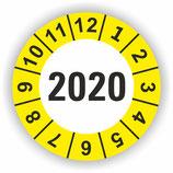 Prüfplakette Ø 40mm 2020 Gelb