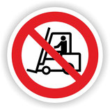 VER-022 Für Flurförderzeuge verboten