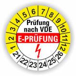 E-PRÜFUNG GELB Ø 20mm