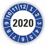 Prüfplakette Ø 40mm 2020 Blau