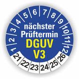 DGUV V3 BLAU Ø 40mm Wartungsetiketten