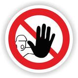 VER-011 Zutritt für unbefugte verboten