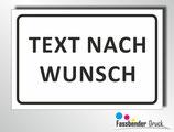 Wunschtextschild mit/ohne Logo/Symbole