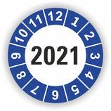 Prüfplakette Ø 20mm 2021 Blau