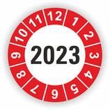 Prüfplakette Ø 20mm 2020 Rot