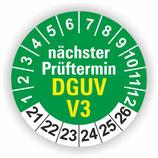 DGUV V3 GRÜN Ø 30mm Wartungsetiketten