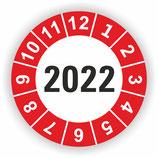 Prüfplakette Ø 20mm 2022 Rot