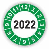 Prüfplakette Ø 20mm 2022 Grün
