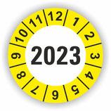 Prüfplakette Ø 20mm 2020 Gelb