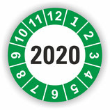 Prüfplakette Ø 40mm 2020 Grün