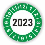 Prüfplakette Ø 20mm 2020 Grün