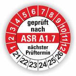 ASR A1.7 ROT Ø 30mm Wartungsetiketten