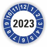 Prüfplakette Ø 20mm 2020 Blau