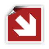 FZ-8 Brandschutzzeichen Richtungspfeil 2 nach DIN EN ISO 7010