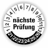 NÄCHSTE PRÜFUNG WEIß Ø 40mm