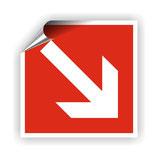 FZ-7 Brandschutzzeichen Richtungspfeil 1 nach DIN 4844-2