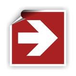FZ-7 Brandschutzzeichen Richtungspfeil 1 nach DIN EN ISO 7010