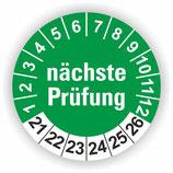 NÄCHSTE PRÜFUNG GRÜN Ø 20mm