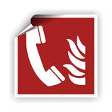FZ-5 Brandschutzzeichen Brandmelde Telefon nach DIN EN ISO 7010