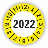 Prüfplakette Ø 30mm 2022 Gelb